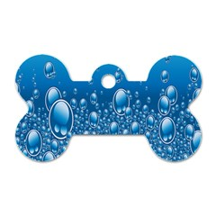 Water Bubble Blue Foam Dog Tag Bone (one Side) by Mariart