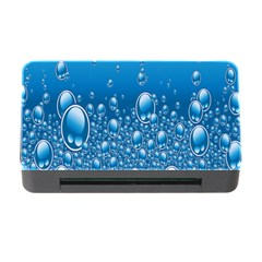 Water Bubble Blue Foam Memory Card Reader With Cf by Mariart