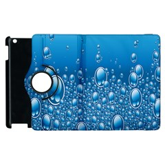 Water Bubble Blue Foam Apple Ipad 2 Flip 360 Case by Mariart