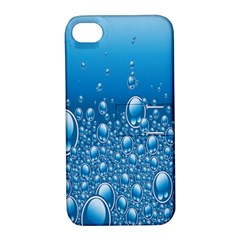 Water Bubble Blue Foam Apple Iphone 4/4s Hardshell Case With Stand by Mariart