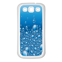 Water Bubble Blue Foam Samsung Galaxy S3 Back Case (white) by Mariart