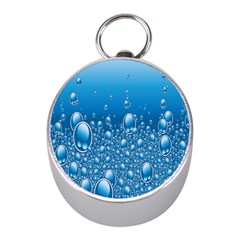 Water Bubble Blue Foam Mini Silver Compasses by Mariart