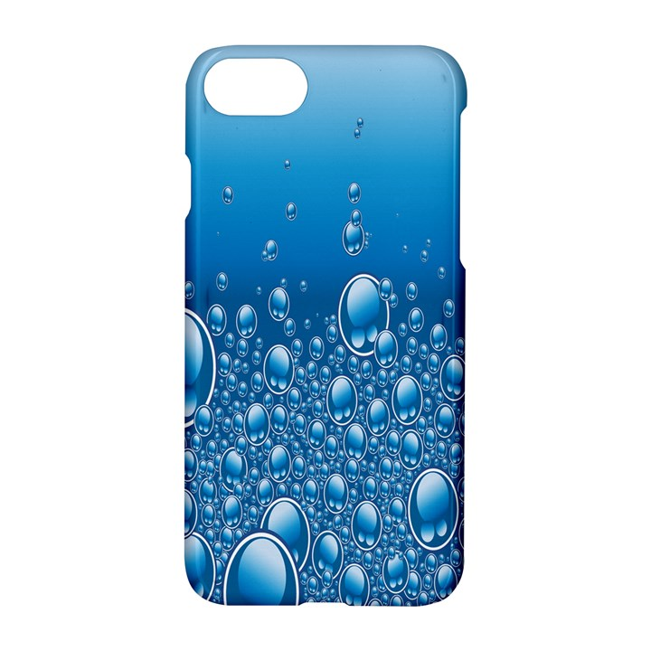 Water Bubble Blue Foam Apple iPhone 7 Hardshell Case
