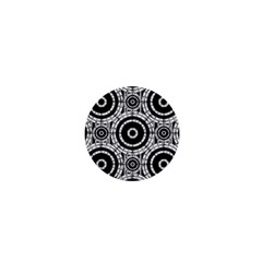 Geometric Black And White 1  Mini Buttons by linceazul