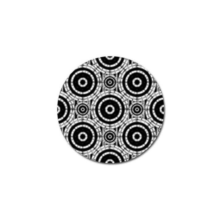 Geometric Black And White Golf Ball Marker