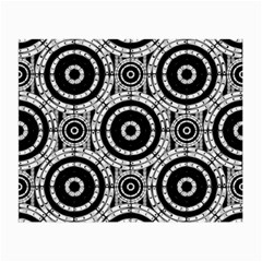 Geometric Black And White Small Glasses Cloth (2 Side) by linceazul