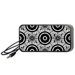 Geometric Black And White Portable Speaker (black) by linceazul