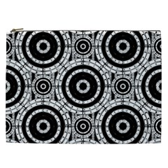 Geometric Black And White Cosmetic Bag (xxl)  by linceazul