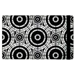 Geometric Black And White Apple Ipad 3/4 Flip Case by linceazul