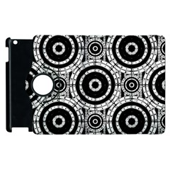 Geometric Black And White Apple Ipad 3/4 Flip 360 Case by linceazul