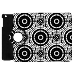 Geometric Black And White Apple Ipad Mini Flip 360 Case by linceazul