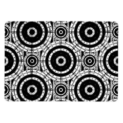 Geometric Black And White Samsung Galaxy Tab 10 1  P7500 Flip Case by linceazul