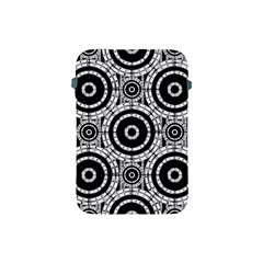 Geometric Black And White Apple Ipad Mini Protective Soft Cases by linceazul