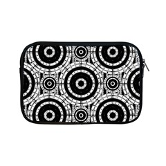 Geometric Black And White Apple Ipad Mini Zipper Cases by linceazul