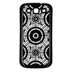 Geometric Black And White Samsung Galaxy S3 Back Case (black) by linceazul