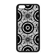 Geometric Black And White Apple Iphone 5c Seamless Case (black) by linceazul