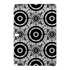 Geometric Black And White Samsung Galaxy Tab Pro 12 2 Hardshell Case by linceazul