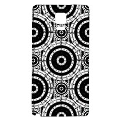 Geometric Black And White Galaxy Note 4 Back Case by linceazul