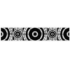 Geometric Black And White Flano Scarf (large)  by linceazul