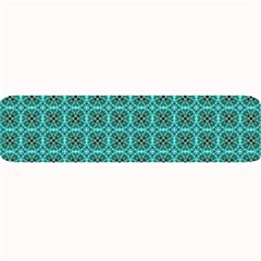 Turquoise Damask Pattern Large Bar Mats by linceazul