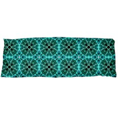 Turquoise Damask Pattern Body Pillow Case Dakimakura (two Sides) by linceazul