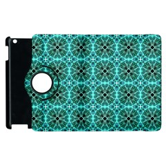Turquoise Damask Pattern Apple Ipad 3/4 Flip 360 Case by linceazul