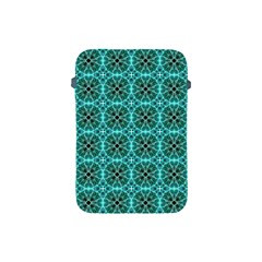 Turquoise Damask Pattern Apple Ipad Mini Protective Soft Cases by linceazul