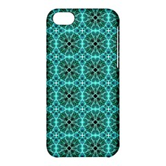 Turquoise Damask Pattern Apple Iphone 5c Hardshell Case by linceazul