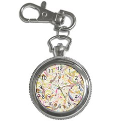 Colorful Seamless Floral Background Key Chain Watches