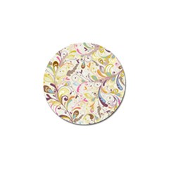 Colorful Seamless Floral Background Golf Ball Marker (4 Pack) by TastefulDesigns