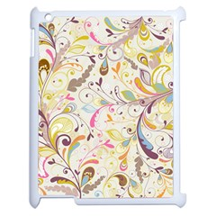 Colorful Seamless Floral Background Apple Ipad 2 Case (white) by TastefulDesigns