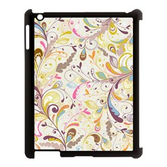 Colorful Seamless Floral Background Apple Ipad 3/4 Case (black) by TastefulDesigns
