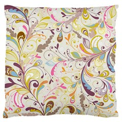 Colorful Seamless Floral Background Large Flano Cushion Case (two Sides) by TastefulDesigns