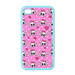 Cute Skulls  Apple Iphone 4 Case (color)