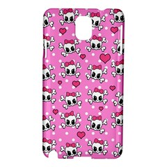 Cute Skulls  Samsung Galaxy Note 3 N9005 Hardshell Case by Valentinaart