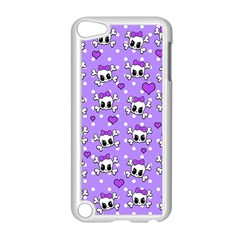 Cute Skulls  Apple Ipod Touch 5 Case (white) by Valentinaart