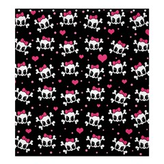 Cute Skulls  Shower Curtain 66  X 72  (large)  by Valentinaart