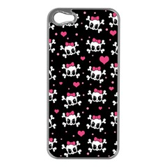 Cute Skulls  Apple Iphone 5 Case (silver) by Valentinaart