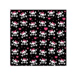 Cute skulls  Small Satin Scarf (Square) Front