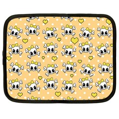 Cute Skull Netbook Case (xl)