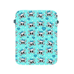 Cute Skull Apple Ipad 2/3/4 Protective Soft Cases by Valentinaart