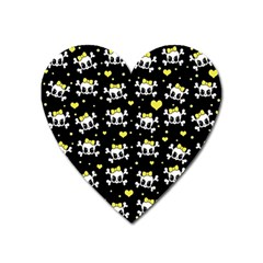 Cute Skull Heart Magnet by Valentinaart