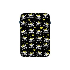 Cute Skull Apple Ipad Mini Protective Soft Cases by Valentinaart