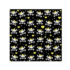 Cute Skull Small Satin Scarf (square) by Valentinaart