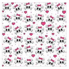 Cute Skull Large Satin Scarf (square)