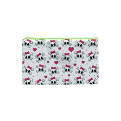 Cute Skull Cosmetic Bag (xs) by Valentinaart