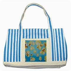 Air Popped Striped Blue Tote Bag