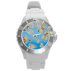 Air Popped Round Plastic Sport Watch (l) by dawnsiegler