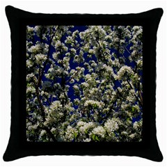 Floral Skies Throw Pillow Case (black) by dawnsiegler