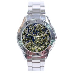 Floral Skies Stainless Steel Analogue Watch by dawnsiegler